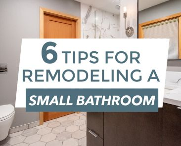 Blog title over remodeled bathroom
