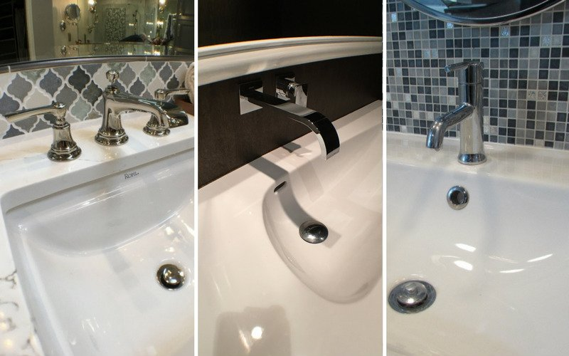 Three bathroom fixture styles