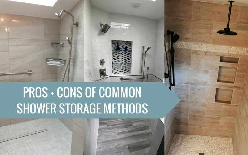 Blog title featuring 3 different shower styles