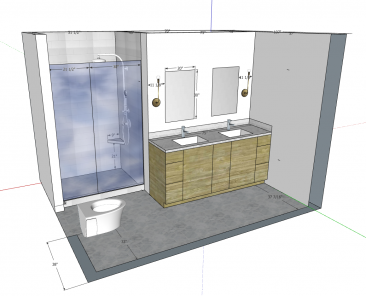 Bathroom remodel 3d design plans