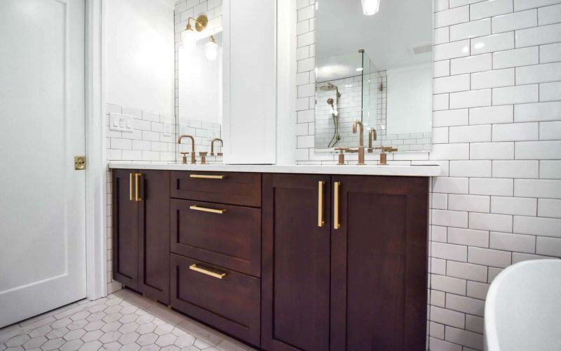 Traditional Master and Guest Bathroom