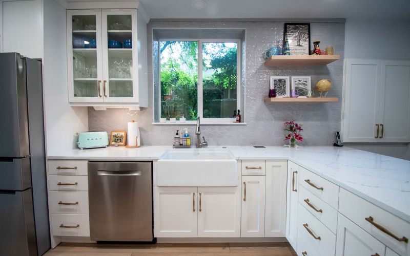 Kitchen Adds Counters and Storage